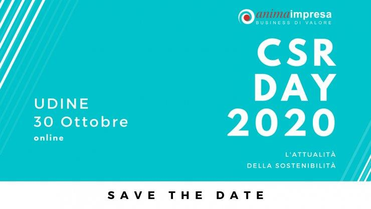 SAVE THE DATE: 30 Ottobre 2020 - CSR Day 2020