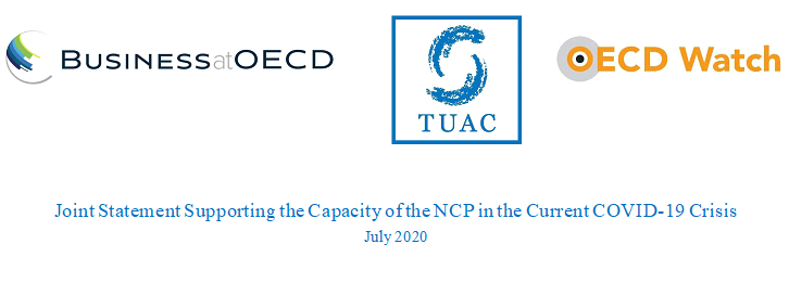 Joint Statement Supporting the Capacity of the NCP in the Current COVID-19 Crisis